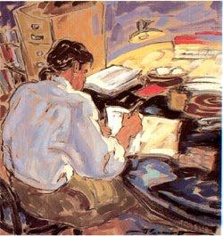 Maestro escribiendo